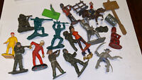 VINTAGE JOB LOT TOY SOLDIERS , INDIANS , OLD REPAIRS METAL PLASTIC BRITAINS
