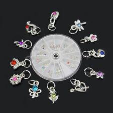Ruota 24 Piercing Strass con Cerchi per Ricostruzione Unghie Tip UV Gel Nail Art
