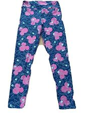 New listing LuLaRoe Disney Minnie Mouse Blue Pink Os Leggings One Size Euc