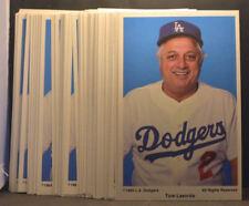 LOT of 10 1985 Jumbo Coca-Cola Postcard TOMMY LASORDA Los Angeles Dodgers NM+