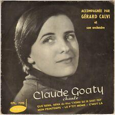 """CLAUDE GOATY """"QUE SERA SERA"""" 50'S EP VOGUE 7295"""