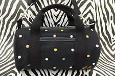 FRED PERRY Ladies MINI Shoulder Bag Black Small L4197 Barrel Body Handbag BNWT
