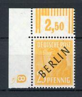 Berlin Eckrand MiNr. 10 DZ postfrisch MNH Fotobefund Schlegel (MA1086