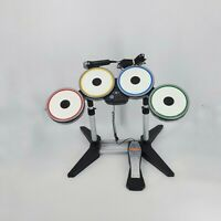ROCKBAND BEATLES DRUM KIT FOR XBOX 360 WITH PEDAL AND MIC *VGC* GUITAR HERO