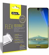 3x Sharp Aquos S2 Schutzfolie Folie, 100% Displayabdeckung, dipos Flex