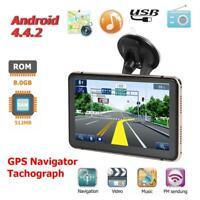 "7"" Zoll Android 4.4 GPS Navigation Navigator Auto LKW Navigationsgerät WIFI BT"