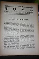 ROMA RIVISTA DI STUDI E DI VITA ROMANA N.3 E 4 MARZO APRILE 1943