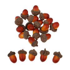 20Pcs Artificial Acorns Fake Fruits Christmas Accents Home Decors Ornaments