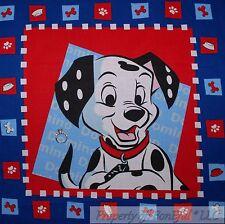 BonEful Fabric FQ Cotton Quilt Panel Block VTG Red White Blue Dalmatian DOG USA