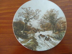 """Poole  Plate: """"LANDSCAPE IN WINTER AFTER PAINTING BC KOEKKOEK"""""""