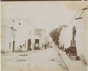 Rue A City Of Tunisia Vintage Towards 1885