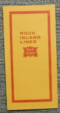 Rock Island Railroad 1974 Ticket Envelope Jacket - unused