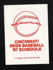 Cincinnati Reds--1987 Pocket Schedule--Budweiser