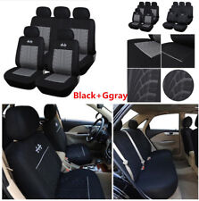 9 Part 5sit Car Seat Covers Protector Set For Front&Rear Seats Headrests Cover