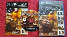 AMERICA'S 10 MOST WANTED  ORIGINAL BLACK LABEL SONY GAME PS2 PAL