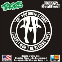 Ford Panty Pantie Dropper Funny DieCut Vinyl Window Decal Sticker Car Truck JDM