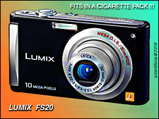 LUMIX FS20 10mp to 1600 ISO +VGA +Orig Batt+Orig. Chgr+NEW 16gb Sandisk SD EXC.