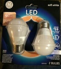 GE® 63877 Dimmable A15 Shape Soft White LED Light Bulb, 4W, 120V, 2-Pack