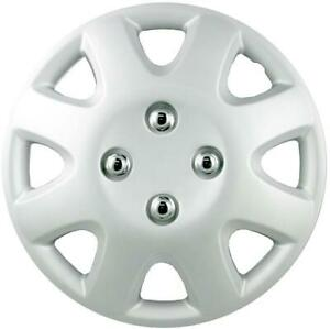 """QUALITY 14"""" GEARX WHEEL COVERS SILVER COLUBER SET OF 4"""
