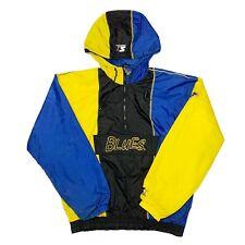 Vtg Rare NHL St Louis Blues Color Block Starter Windbreaker Jacket. Mens Medium