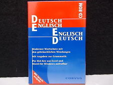 Dictionary, TEDESCA - INGLESE INGLESE - TEDESCA, CD-ROM, MARCA CORVUS