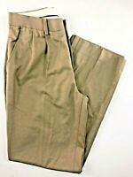 Nordstrom Boy's Brown Pleated Front Polyester/Rayon Pants Size 14. 28x28""
