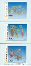 Finland 2002 MNH Set of 3 Stamps - Finnish Trees - Pine Spruce Birch