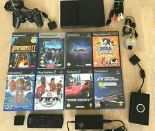 Sony PlayStation 2 PS2 slim - PAL +8 Spile, Controller, Kamera usw - getestet