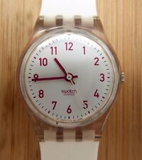 Lady's Vintage Swatch SMOKED PINK 1997 Excellent Condition New Strap