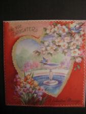 1947 vintage greeting card Rust Craft Artists' Guild Valentine To Daughter Bird