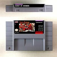 Secret of Evermore Game Card Console US Version For Nintendo SNES 16 Bit Eng