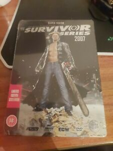 WWE - Survivor Series 2007 (DVD, 2008) New sealed limited edition steelbook.