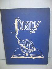1947 Diary, West Springfield High School, W. Springfield, Massachusetts Yearbook