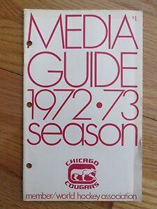 1972-73 WHA World Hockey Association CHICAGO COUGARS Media Guide RENE PRONOVOST