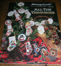 Stoney Creek All The Trimmings Christmas Cross Stitch Ornament Patterns ~ NEW