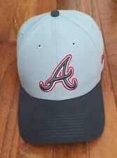 Atlanta Braves NewEra 9FORTY Gray Embroidered Adjustable MLB Hat - NEW!