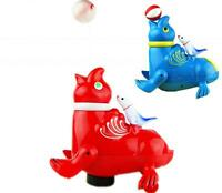 NEW Childrens Flashing Lights Funny Blowing Air Ball Animal Seal Sound Toy Model