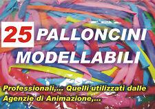 PALLONCINI MODELLABILI MANIPOLABILI COLORI MISTI 25 Pz PARTY FESTA ATOSSICI