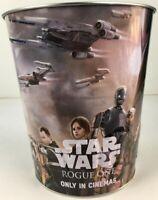 "Star Wars Rogue One 8"" 2016 Odeon Cinema 130oz Metal Embossed Popcorn Bucket"