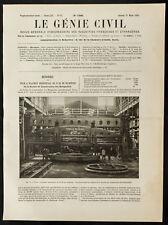 1909, Batignolles, tour à plateau horizontal. Mecanique & Industrie