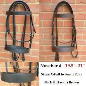 Premier Leather Hunter Bridle Black Brown *English* in 3 Sizes (FREE NEXT DAY)