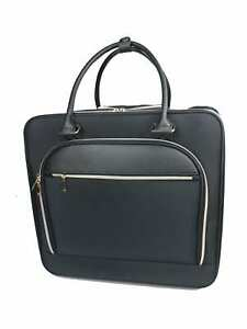 """TJ Riley Rolling Briefcase With 15"""" Laptop Pocket Black [IN HAND]"""