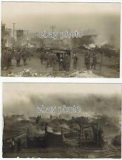 Fire Disaster Woodstock IL 1908 to Harvard taken April 17th AM - RPPC Real Photo