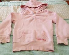 BILLABONG Pink Girls Warm Winter Hoodue Jumper Size 8 Cotton