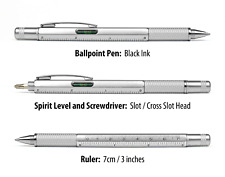Gadget Pen Gift For Him Ball Point Ruler Spirit Level Screwdriver Multi Tool Man