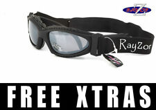 Rayzor Designer Uv400 (2In1) Negro Esquí Snowboard Gafas De Sol Gafas RRP £ 69