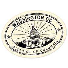 "Washington DC travel car bumper window suitcase sticker 5"" x 4"""