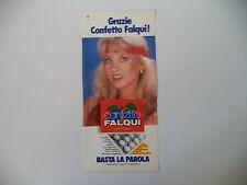 advertising Pubblicità 1992 FALQUI e BARBARA BOUCHET