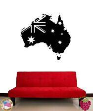 Wall Stickers Vinyl Decal Australia Australian Flag For Living Room (z1829)