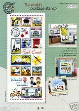 """Postage Stamp of the world"" counted cross stitch pattern leaflet. Soda So-G35"